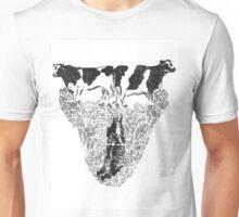Cow Butter Flied Unisex T-Shirt