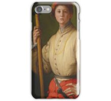 Pontormo - Portrait Of A Halberdier Francesco Guardi iPhone Case/Skin