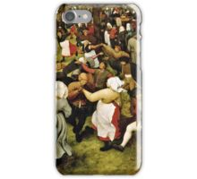 Pieter Bruegel the Elder - The Wedding Dance (1566)  iPhone Case/Skin