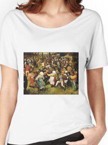 Pieter Bruegel the Elder - The Wedding Dance (1566)  Women's Relaxed Fit T-Shirt