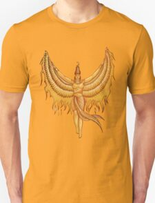 Isis, Goddess Egypt with wings of the legendary bird Phoenix Unisex T-Shirt