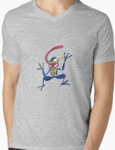 Greninja Screen KO! Mens V-Neck T-Shirt