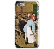Pieter Bruegel the Elder - Peasant Wedding (1566 - 1569)  iPhone Case/Skin