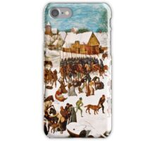 Pieter Bruegel the Elder - Massacre of the Innocents (1565 - 1567)  iPhone Case/Skin