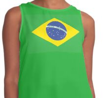 BRAZIL, BRAZILIAN FLAG, FLAG OF BRAZIL, PURE & SIMPLE, Brazil, Soccer, Football, Olympics, on GREEN Contrast Tank