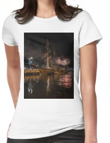 New year eve Fireworks in Hobart Tasmania  Womens Fitted T-Shirt