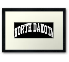 North Dakota Classic Framed Print