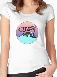 culte mountain shirt Women's Fitted Scoop T-Shirt