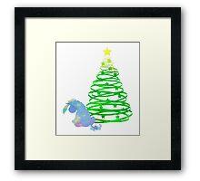 Christmas Donkey Inspired Silhouette Framed Print