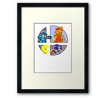 Smash Bros.: Big 4 Framed Print