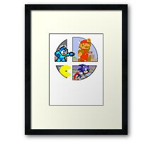 Smash Bros.: Big 4 Framed Print