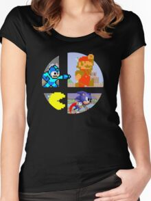 Smash Bros.: Big 4 Women's Fitted Scoop T-Shirt