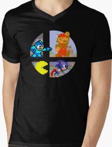 Smash Bros.: Big 4 Mens V-Neck T-Shirt