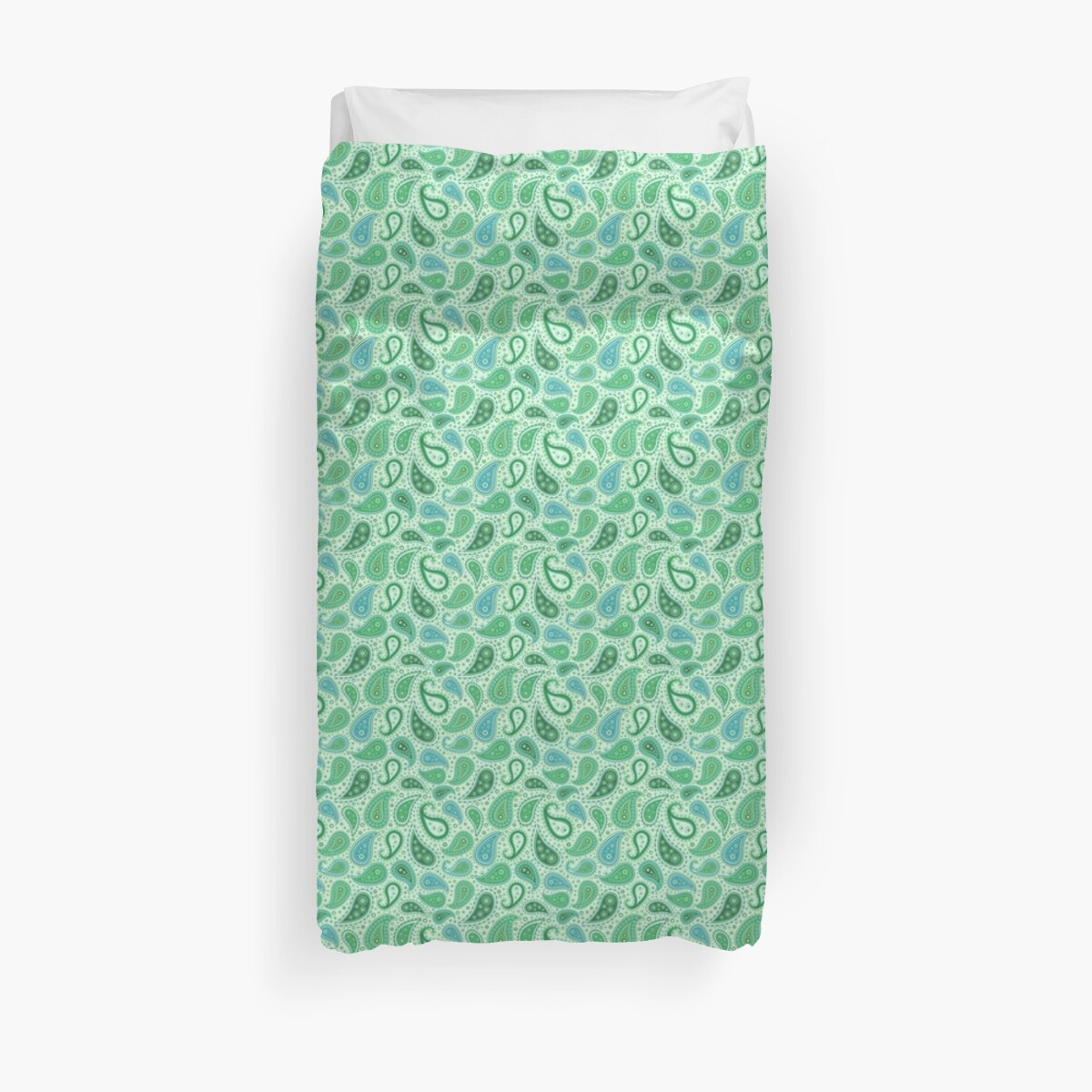 Paisley Light Green by ixrid