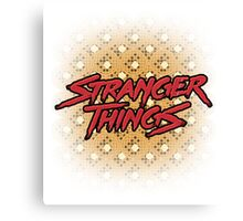 Stranger Things: Blood Logo ft. Buttery Eggos  Canvas Print