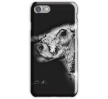 Old Paint The Bovine Lap Cow in Black & White iPhone Case/Skin