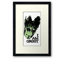 I am Groot. Framed Print