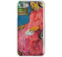 Paul Gauguin - Faaturuma (Melancholic) (1891)  iPhone Case/Skin