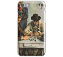 Paul Cezanne - Les Joueurs De Cartes 2 - Players in cards iPhone Case/Skin