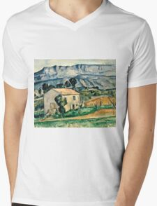 Paul Cezanne - House in Provence (1886 1890)  Mens V-Neck T-Shirt