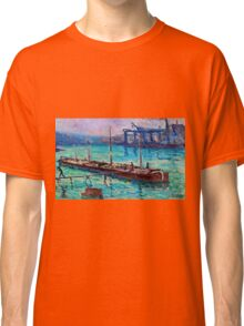 Maximilien Luce - Peniche Near The Bank Of The Seine 1910  Classic T-Shirt