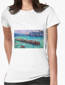 Maximilien Luce - Peniche Near The Bank Of The Seine 1910  Womens Fitted T-Shirt