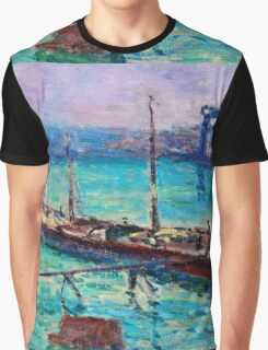 Maximilien Luce - Peniche Near The Bank Of The Seine 1910  Graphic T-Shirt