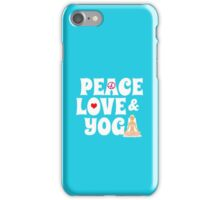 Peace, Love, Yoga Case - Burgundy iPhone Case/Skin