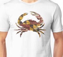 Chesapeake Blue Crab Featuring the Maryland Flag Unisex T-Shirt