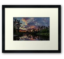Sunset Reflections Framed Print