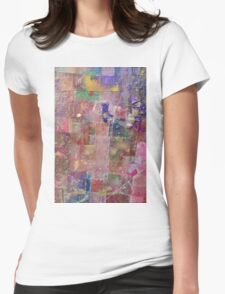 abstract painting background Womens Fitted T-Shirt