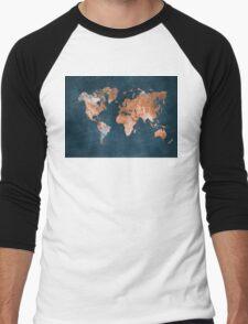 world map 15 Men's Baseball ¾ T-Shirt