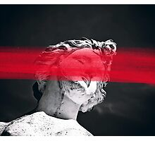 Face Me With Red Photographic Print