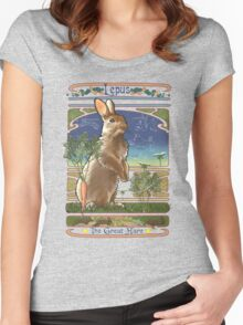 Constellation Lepus the Great Hare Art Nouveau Design Women's Fitted Scoop T-Shirt