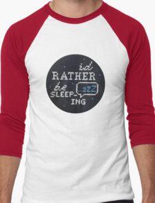 I'd Rather Be Sleeping Cross-Stitch Men's Baseball ¾ T-Shirt