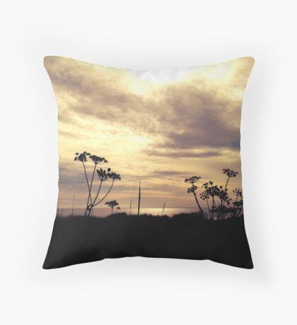 Beach scene Throw Pillow