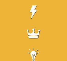 Bolt - Bulb - King / HARRY POTTER - yellow by Worldofjoy