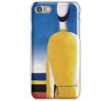 Kazemir Malevich - Half-Figure In Yellow Shirt iPhone Case/Skin