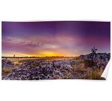 Dawn At Steppe Poster