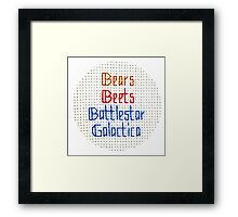 The Classic - Bears, Beets, Battlestar Galactica Framed Print