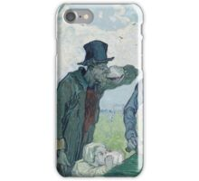 Vincent Van Gogh -  Drinkers (After Daumier), 1890 iPhone Case/Skin