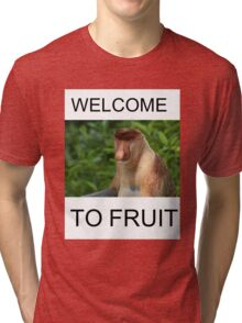 WELCOME TO FRUIT Tri-blend T-Shirt