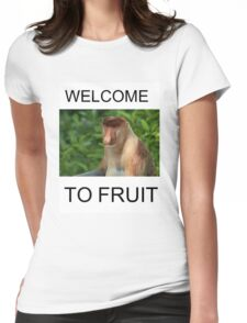 WELCOME TO FRUIT Womens Fitted T-Shirt