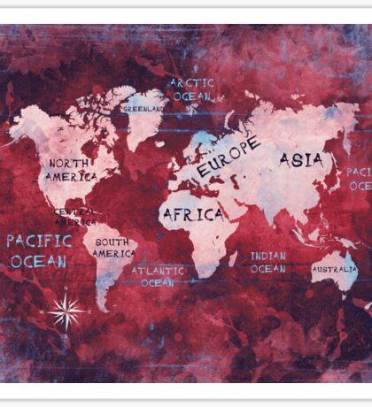 world map 16 Sticker
