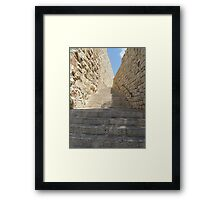 Stairs to Old City of Jerusalem Framed Print