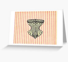 Pink and White Corset Note Card Greeting Card
