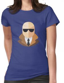 White Secret Agent Womens Fitted T-Shirt