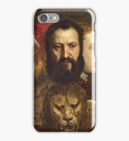 Tiziano Vecellio, Titian - An Allegory of Prudence (about 1550 65)  iPhone Case/Skin