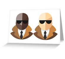 Black and White Secret Agents Greeting Card