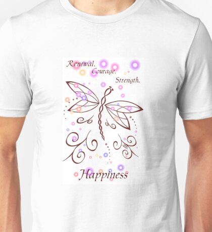 Dragonfly Daydream- Renewal, Courage, Strength, Happiness Unisex T-Shirt